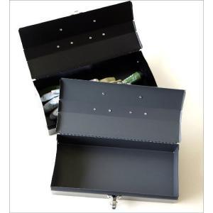 工具箱 ツールボックス ユーティリティボックス 持ち運び おしゃれ スチール 裁縫箱 小物入れ ユーティリティBOX S2カラー|gigiliving|03