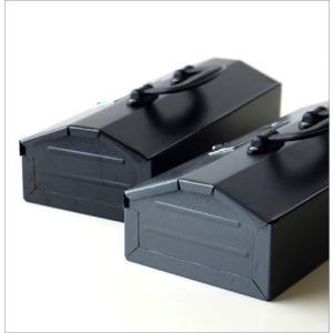 工具箱 ツールボックス ユーティリティボックス 持ち運び おしゃれ スチール 裁縫箱 小物入れ ユーティリティBOX S2カラー|gigiliving|05