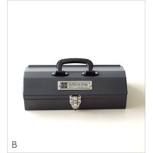 工具箱 ツールボックス ユーティリティボックス 持ち運び おしゃれ スチール 裁縫箱 小物入れ ユーティリティBOX S2カラー|gigiliving|07