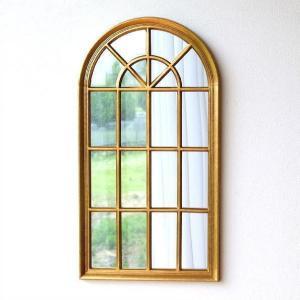 鏡 壁掛けミラー 壁飾り おしゃれ アンティークゴールド エレガント ウォールミラー クラシック ヨーロピアン 壁掛け インテリア ウィンドースタイルミラー|gigiliving