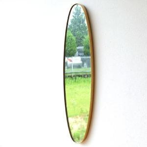 鏡 壁掛けミラー オーバル 楕円形 アンティークゴールド ウォールミラー おしゃれ シンプル エレガント モダン スタイリッシュ オーバルロングスリムミラー