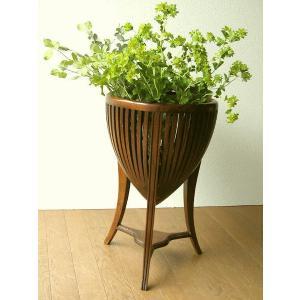 花台 フラワースタンド 木製 おしゃれ 玄関 室内 観葉植物 アジアン家具 無垢 チークフラワースタンド S