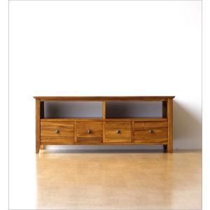 テレビ台 テレビボード おしゃれ 収納 TV台 木製 無垢 アジアン家具 完成品 チークローボード114|gigiliving|07