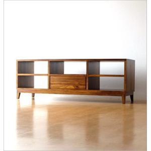 テレビ台 テレビボード おしゃれ AVラック 収納 木製 完成品 アジアン家具 無垢 TWローボード150B|gigiliving|06