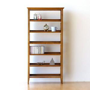 CDラック 木製 文庫本 本棚 薄型 スリム シェルフ 収納 無垢 アジアン家具 完成品 チークCDラック60|gigiliving