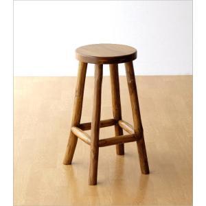 スツール 木製 椅子 おしゃれ アジアン家具 無垢 丸椅子 天然木 ハイスツール カウンターチェア チーク原木スツール M|gigiliving|06
