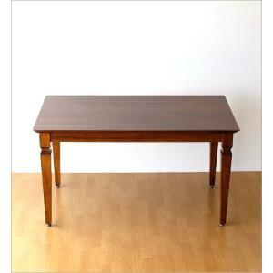 ダイニングテーブル 無垢 天然木 おしゃれ 4人 食卓 モダン アジアン家具 チークダイニングテーブル135 gigiliving 06