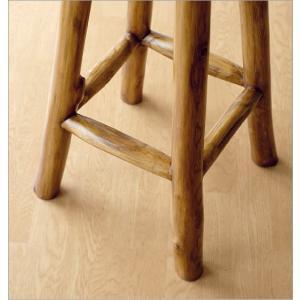 スツール 木製 椅子 おしゃれ アジアン家具 無垢 丸椅子 天然木 ハイスツール カウンターチェア チーク原木スツール 70|gigiliving|04