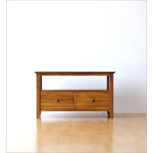 テレビ台 テレビボード おしゃれ 収納 TV台 木製 無垢 アジアン家具 完成品 チークローボード80スリム|gigiliving|07