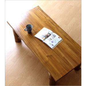 ローテーブル 木製 天然木 無垢 おしゃれ リビングテーブル 座卓 アジアン家具 完成品 チーク原木テーブル|gigiliving|02