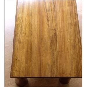 ローテーブル 木製 天然木 無垢 おしゃれ リビングテーブル 座卓 アジアン家具 完成品 チーク原木テーブル|gigiliving|03