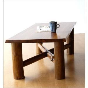 ローテーブル 木製 天然木 無垢 おしゃれ リビングテーブル 座卓 アジアン家具 完成品 チーク原木テーブル|gigiliving|04