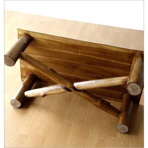 ローテーブル 木製 天然木 無垢 おしゃれ リビングテーブル 座卓 アジアン家具 完成品 チーク原木テーブル|gigiliving|05