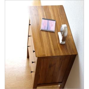 チェスト 木製 天然木 電話台 FAX台 収納...の詳細画像2