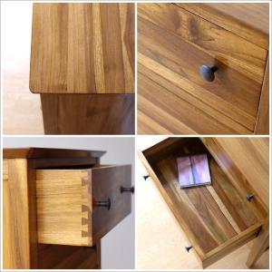 チェスト 木製 天然木 電話台 FAX台 収納...の詳細画像3