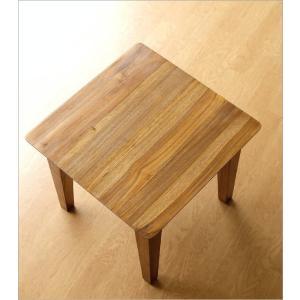 サイドテーブル 木製 カフェテーブル コーヒーテーブル 無垢 アジアン家具 完成品 チークコンパクトテーブル45|gigiliving|03