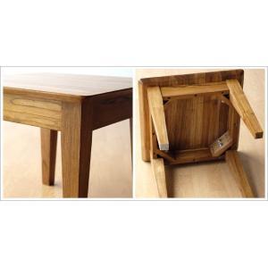 サイドテーブル 木製 カフェテーブル コーヒーテーブル 無垢 アジアン家具 完成品 チークコンパクトテーブル45|gigiliving|05