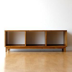 テレビボード テレビ台 オーディオラック 無垢 オープンラック チーク アジアン家具 完成品 TWローボード150C
