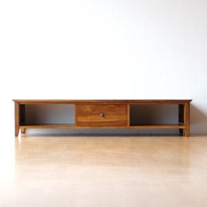 テレビ台 テレビボード ロータイプ 低い 木製 無垢 アジアン家具 完成品 チークローボード150Low