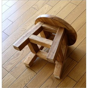 スツール 木製 子供 椅子 玄関 チェア 腰掛け 花台 フラワースタンド 天然木 無垢材 チャイルドスツール|gigiliving|04