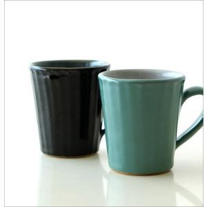 マグカップ 益子焼 陶器 日本製 おしゃれ モダン ナチュラル ライン コップ コーヒーカップ コーヒーマグ カラー鎬マグカップ 2カラー|gigiliving|02