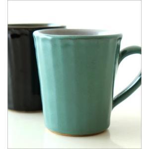 マグカップ 益子焼 陶器 日本製 おしゃれ モダン ナチュラル ライン コップ コーヒーカップ コーヒーマグ カラー鎬マグカップ 2カラー|gigiliving|03