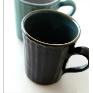 マグカップ 益子焼 陶器 日本製 おしゃれ モダン ナチュラル ライン コップ コーヒーカップ コーヒーマグ カラー鎬マグカップ 2カラー|gigiliving|04