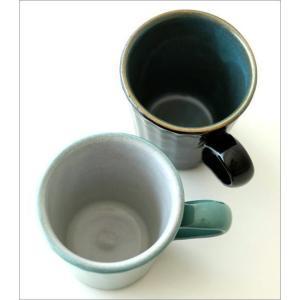 マグカップ 益子焼 陶器 日本製 おしゃれ モダン ナチュラル ライン コップ コーヒーカップ コーヒーマグ カラー鎬マグカップ 2カラー|gigiliving|05