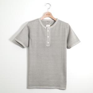 gim ジム 天竺TokyoVintageヘンリーネック半袖ポケット付Tシャツ M|gimonline