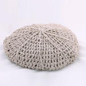 ざっくり編み ニットベレー帽 gina