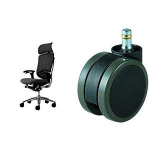 オカムラ オフィスチェア コンテッサ 可動肘 ヘッドレストタイプ 座:クッション ブラック CM92...