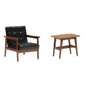 カリモク正規品Kチェア1シーター サイドテーブルセット スタンダードブラック