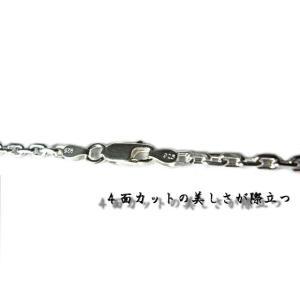 あずきチェーン ネックレス シルバー925 4mm 50cm アズキ 小豆|gingesyo|03