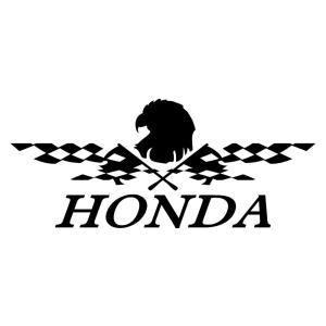 HONDA ホンダ かっこいい レーシング フラッグ ステッカー 車 バイク おしゃれにドレスアップ ginkage