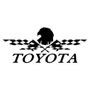 ステッカー かっこいい チェッカー フラッグ エンブレム TOYOTA トヨタ 車 レーサー インパクト|ginkage