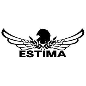 エスティマ ステッカー 車 おしゃれ  :8cm×22cm (黒色)  エンブレム リアガラス ステッカー かっこいい|ginkage