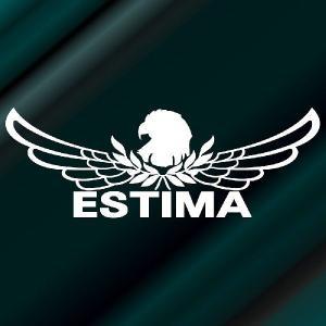 エスティマ ステッカー 車 おしゃれ  :8cm×22cm (白色)  エンブレム リアガラス ステッカー かっこいい|ginkage