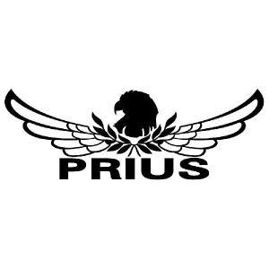 プリウス ステッカー 車 おしゃれ   :8cm×22cm (黒色)  エンブレム リアガラス ステッカー かっこいい|ginkage
