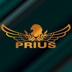 プリウス ステッカー 車 おしゃれ   :8cm×22cm (金色)  エンブレム リアガラス ステッカー かっこいい|ginkage