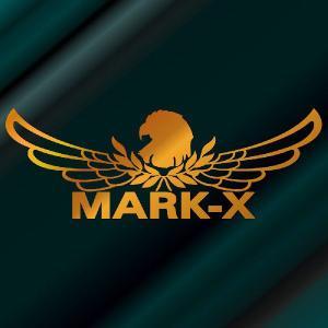 マークX ステッカー 車 おしゃれ  :8cm×22cm (金色)  エンブレム リアガラス ステッカー かっこいい|ginkage