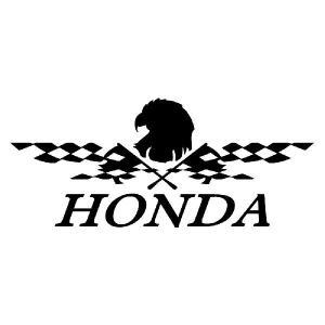 ステッカー かっこいい チェッカー フラッグ エンブレム HONDA ホンダ 車 レーサー インパクト|ginkage