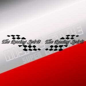 レーシング スピリッツ ステッカー 車 バイク  かっこいい 文字 スポーツ カー ステッカー カウル 左右反転ツインセット ginkage