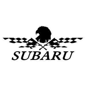 ステッカー かっこいい チェッカー フラッグ エンブレム SUBARU スバル 車 レーサー インパクト|ginkage