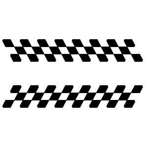 チェッカー ステッカー バイク 車 かっこいい スポーツ メイキング ステッカー 03−15 タイプ...