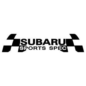 車 ステッカー スバル SUBARU かっこいい スポーツ スペック ドレスアップ カッティング ステッカー|ginkage