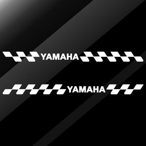 ステッカー YAMAHA ヤマハ バイク かっこいい レーシング スポーツ エンブレム 両サイド用 ...