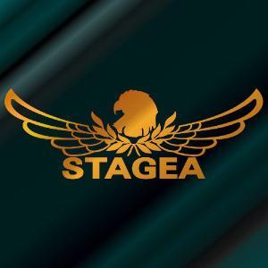 ステージア ステッカー 車 おしゃれ :8cm×22cm (金色)  エンブレム リアガラス ステッカー かっこいい|ginkage