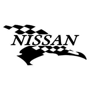 ニッサン エンブレム 車ステッカー (右):5cm×10cm|ginkage