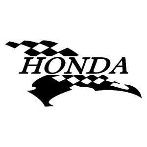 HONDA ホンダ かっこいい 車 バイク スポーツマインド メーカー ロゴ フラッグ エンブレム ステッカー ginkage