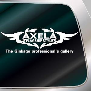 アクセラ エンブレム 車ステッカー:14cm×41cm   車 ステッカー 車用 ステッカー 車|ginkage